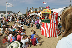 Punch & Judy at Old Leigh Regatta