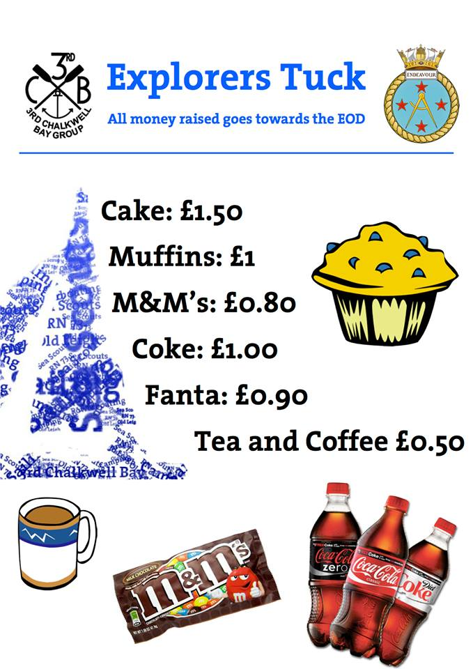 Tuck Shop Price List