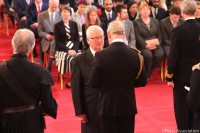 GSL Ian Johnson receives the MBE from HRH the Prince of Wales