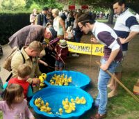 Hook a duck stall at the May Fair