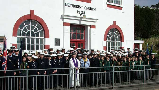The Group outside New Road Church