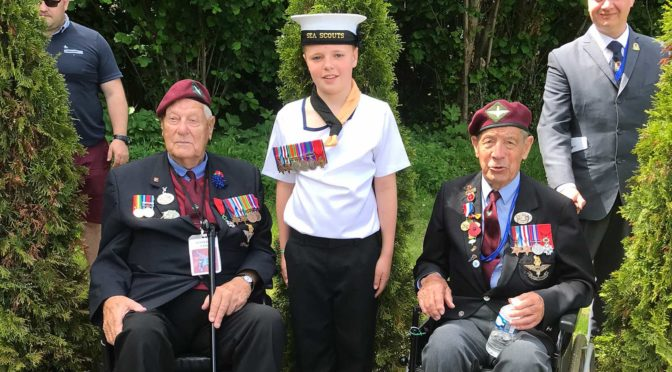 Scout pays homage to D-Day Veteran Great Grandfather